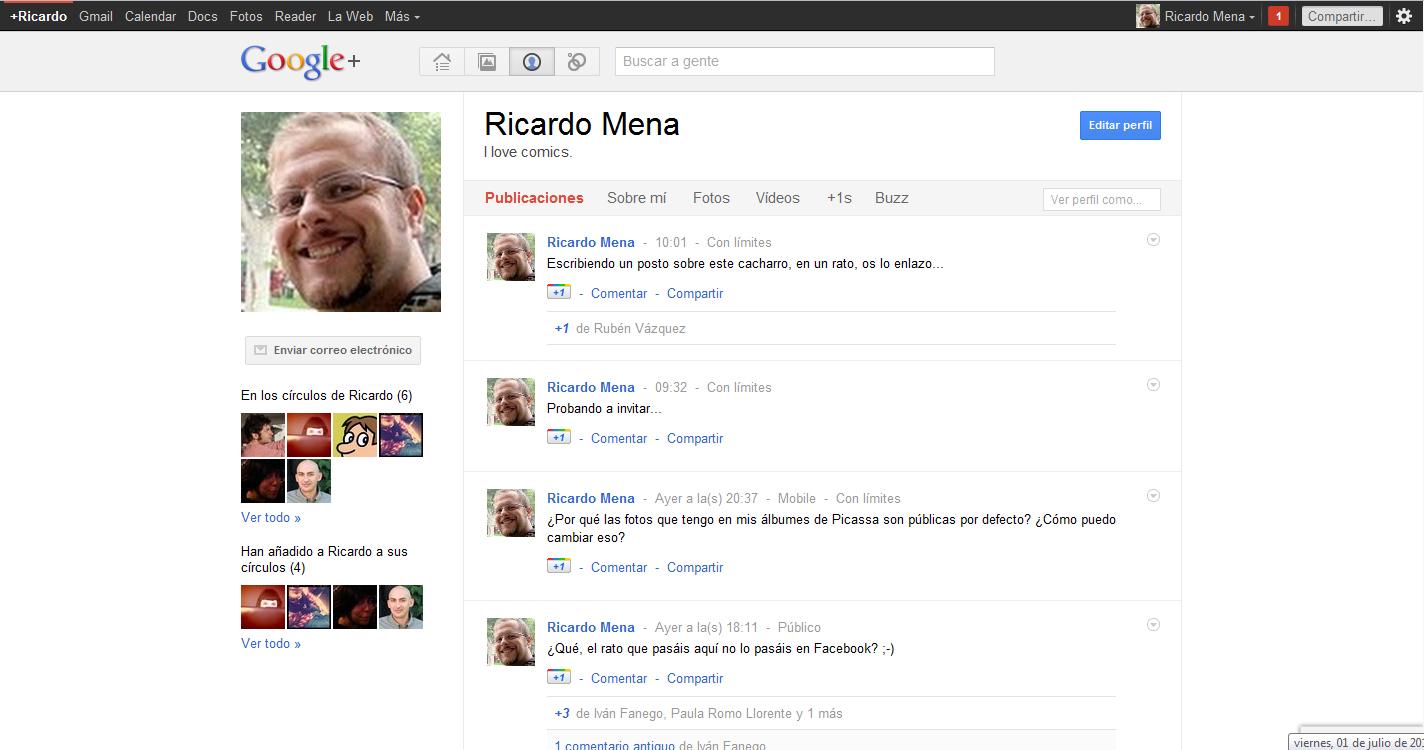 Ricardo Mena en Google+
